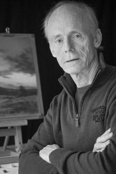 Alan Chaney in seinem Atelier, 2015 - Portrait von Dietmar Simsheuser