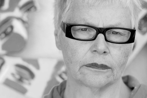 Cornelia Enax in ihrem Atelier, 2015 - Portrait von Dietmar Simsheuser