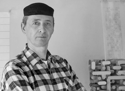 Rainer Lehmann in seinem Atelier, 2015 - Portrait von Dietmar Simsheuser