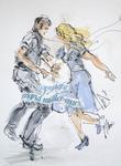 """""""Tanzpaar"""", 2014, Gala Abend, Euskirchen - ARTISTS Ingrid Müller-Marx"""