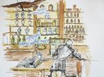 """Schwanenapotheke"", 2014, Tag des offenen Denkmals, Bad Münstereifel - ARTISTS Ingrid Müller-Marx"