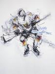 """Eishockeyspiel USA / D"", 2007, Köln-Arena - ARTISTS Ingrid Müller-Marx"