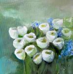 Frühling, Öl auf Leinwand, 30x30 cm - Birgit Braun-Buchwaldt - AhRTISTS