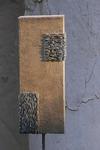 Stele f. d. Außenbereich, Mischtechnik auf Holz mit Metallfuß, 20x62x90 cm  -  Birgit Braun-Buchwaldt - AhRTISTS