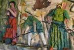 Fries der arbeitenden Bäuerinnen und Bauern (Ausschnitt) - Paul Greven