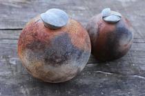 2 Keramikgefäße, Holzbrand - AhRTIST Bernadette Heeb-Klöckner