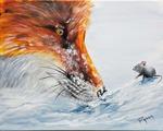 Fuchs und Maus - Acryl - Petra Hörsch