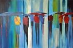 Driss Wetter - Triptychon - Acryl - Petra Hörsch