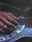 Slide Guitar - Öl auf Leinwand - Michael Gottschalk